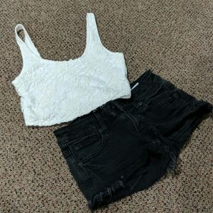 Abercrombie Lace Crop Top